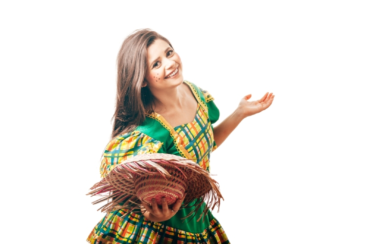 Brazilian girl in traditional costume
