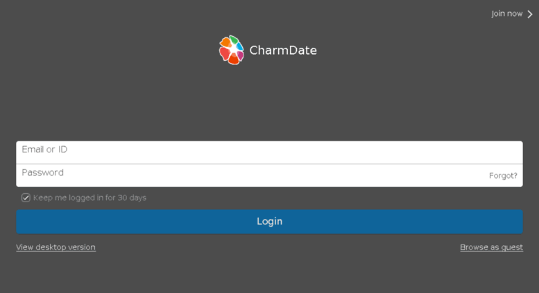 charmdate.com registration, sign up