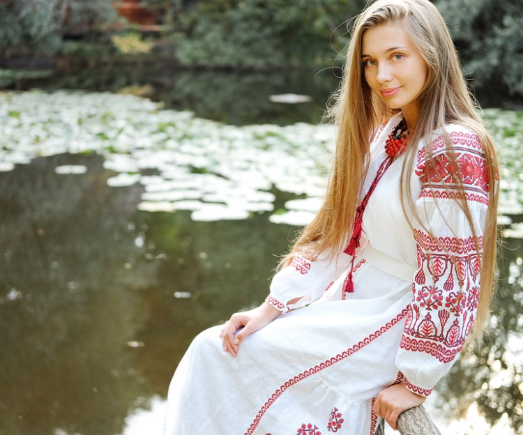 Ukrainian girl in traditional clothes